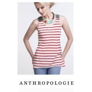 Anthropologie One September Dual Pattern Tank